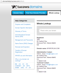 Source: http://domainhelp.tucows.com/whois, last visited 3/2/2013